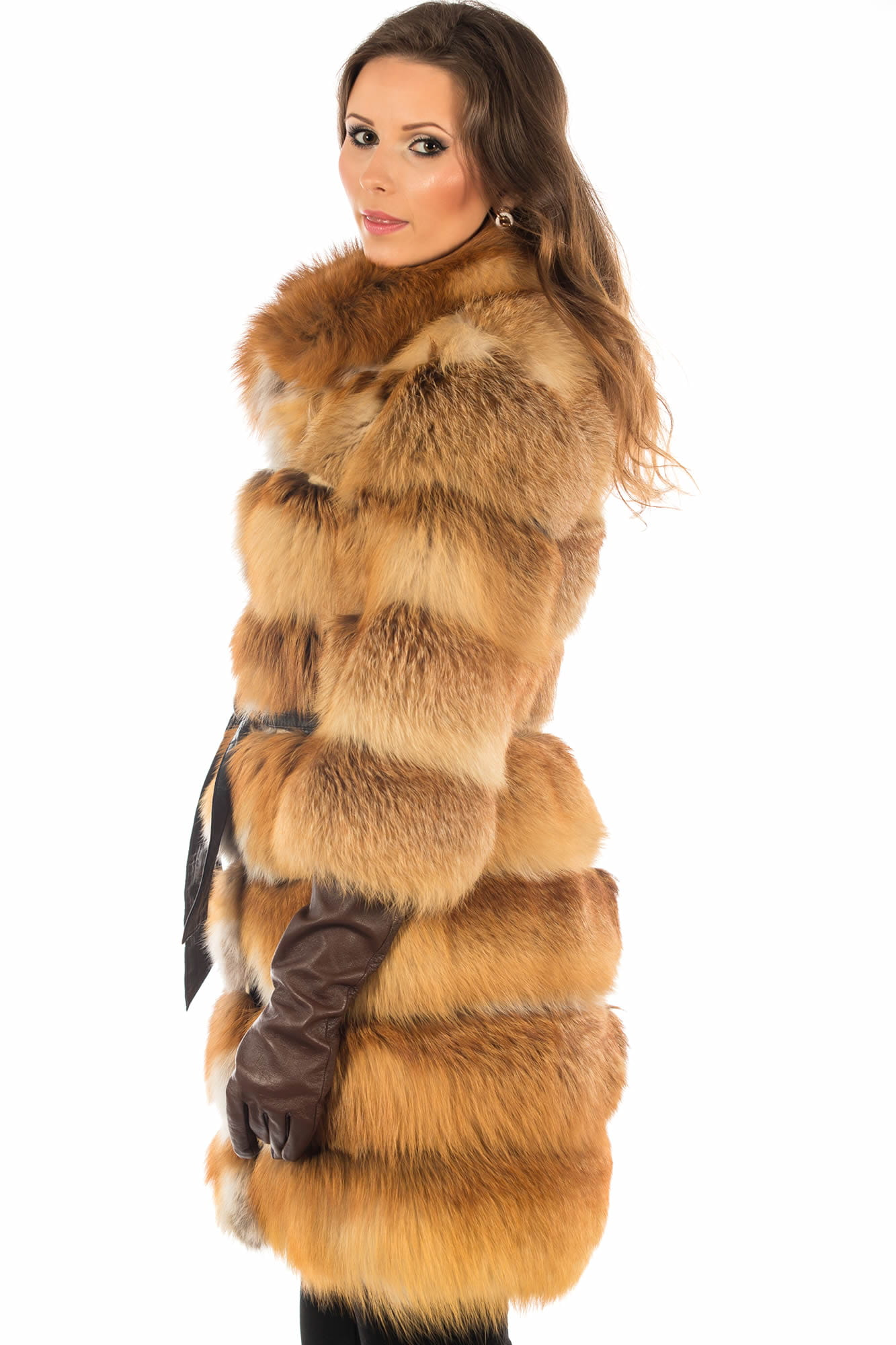 Futro damskie z lisów rudych Foxi