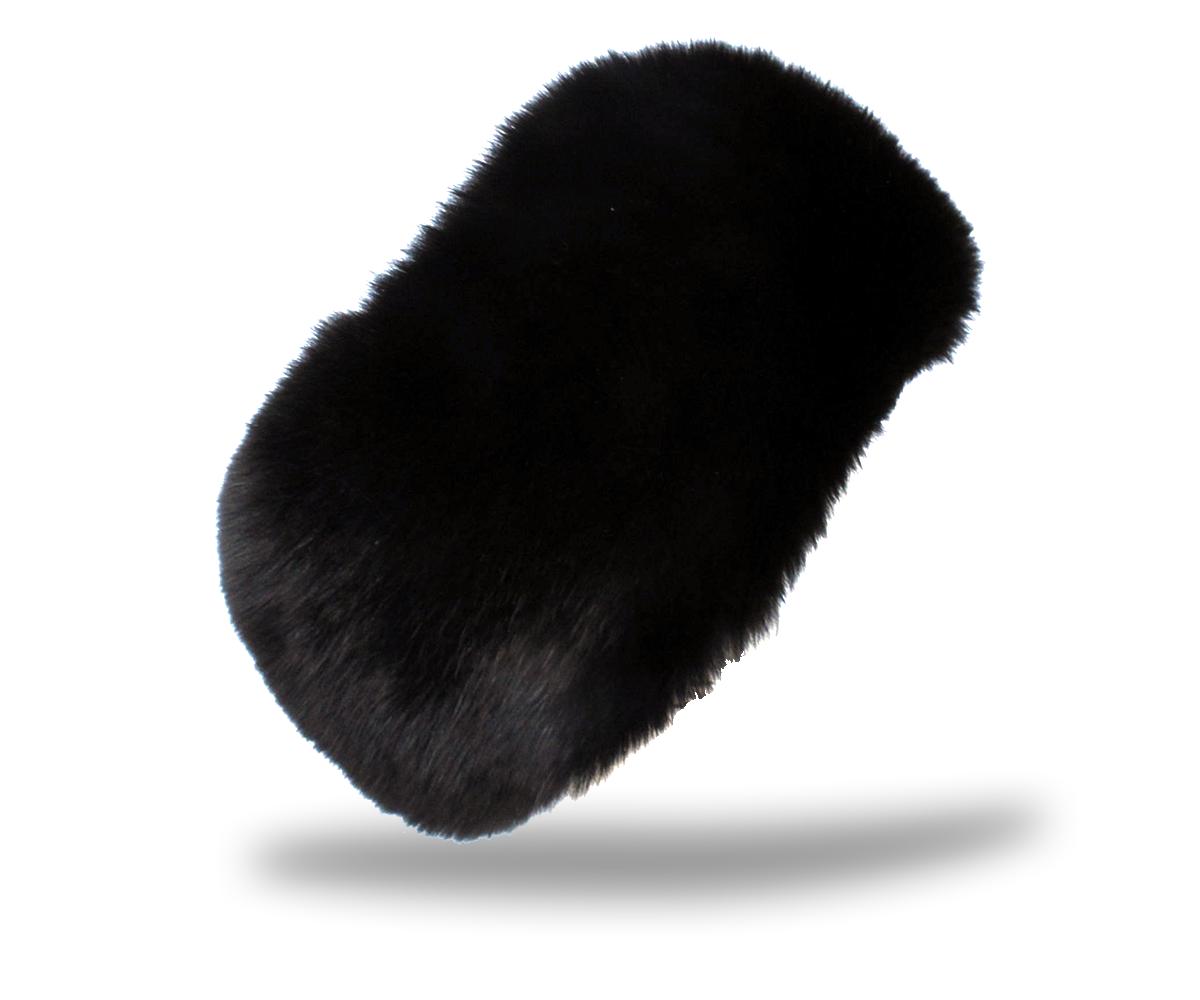 Czapka futrzana z lisa czarna